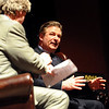 "Actor Alec Baldwin answers questions from the host, Ron Bostwick, left, during the final tribute of BIFF.<br /> The Boulder International Film Festival honored actor Alec Baldwin at the Boulder Theater on Sunday night.<br /> For more photos of Baldwin, go to  <a href=""http://www.dailycamera.com"">http://www.dailycamera.com</a>.<br /> Cliff Grassmick / February 14, 2010"