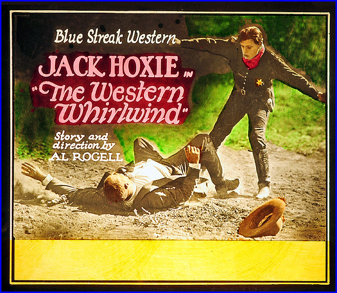 """Western Whirlwind (1927) <br /> <br /> Synopsis: """"Jack Howard, returning from the war, learns that his father, Sheriff Howard, has been killed by an unknown assailant, and he induces the mayor of Gold Strike to swear him in as sheriff. Jack resolves to avenge his father, though he is scoffed at by local heavies, headed by Jeff Taylor, who spread a tale of Jack's cowardice in the war. Mrs. Howard pleads with Jack not to endanger himself, and he refrains from interfering with the gang's depredations and robberies until Taylor tries to frame a robbery on him and tricks Jack's girl, Molly, into going to a mountain retreat. Jack pursues the bandits, forces a confession of Taylor's guilt in the murder of his father, and rescues Molly from Taylor.""""-  <a href=""""http://www.tcm.com/tcmdb/title.jsp?stid=502486"""">http://www.tcm.com/tcmdb/title.jsp?stid=502486</a>"""