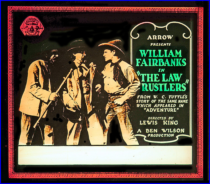"""The Law Rustlers (1923) <br /> <br /> Synopsis: """"Phil Stanley and Harry Hartley are wandering toward Alaska when they stop in a town controlled by a triumvirate of scoundrels and take the part of Glory Sillman, whose brother has been killed while trying to procure medicine for his dying wife. The council declares their banishment, but the pair refuse to leave, send Glory for the sheriff in a neighboring town, and round up the council and its confederates. Phil remains with Glory and her orphaned niece."""" - <a href=""""http://www.tcm.com/tcmdb/title.jsp?stid=497514"""">http://www.tcm.com/tcmdb/title.jsp?stid=497514</a>"""