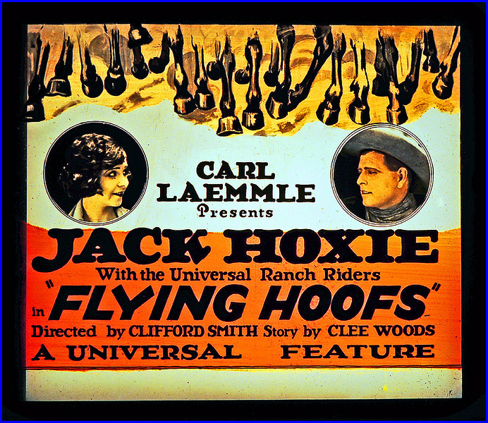 """Flying Hoofs (1925) <br /> <br /> Synopsis: """"Sheriff Frank Moody has sworn to bring to justice a notorious bandit known only as The Raven, but, as he hunts for the unknown outlaw, circumstantial evidence and village gossip suggest that Henry Moody, the sheriff's kid brother, may be the bandit. Henry compounds his difficulties when he openly threatens the town banker, who has recently foreclosed on the Moody ranch. When the bank is robbed, the innocent Henry is arrested, given a hasty trial, and sentenced to be hanged. His identity hidden by the hangman's hood, Frank takes his brother's place on the scaffold, but at the last moment he is rescued by The Raven's men, who will not let an innocent man die. The sheriff captures The Raven, who turns out to be the bank manager, and Henry is cleared of all guilt.""""- <a href=""""http://www.tcm.com/tcmdb/title.jsp?stid=492752"""">http://www.tcm.com/tcmdb/title.jsp?stid=492752</a>"""