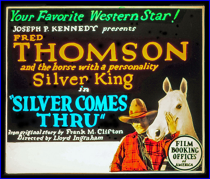 """Silver Comes Through (1927)<br /> <br /> Synopsis: """"In a blizzard, Fred rescues Zeke, his employer, and saves the horses and cattle from a hungry puma. Later, a colt, under Fred's care, grows into a magnificent horse. Zeke, who is indebted to Stanton, surrenders several horses, including Silver King, to him, but Zeke decides to keep Silver King when Stanton mistreats the horse. Fred is enamored of Lucindy, Zeke's daughter, and rescues her when Black Eagle, who is being primed for the cross-country race, runs away with her and is injured. Consequently, Zeke enters Silver King in the race. At a party given by Lucindy, Fred is angered by Stanton's attentions to her; and Stanton's men plot to abduct Silver King before the race. Fred pursues and wins a last-minute victory over Stanton's entry."""" - <a href=""""http://www.tcm.com/tcmdb/title.jsp?stid=498418"""">http://www.tcm.com/tcmdb/title.jsp?stid=498418</a>"""