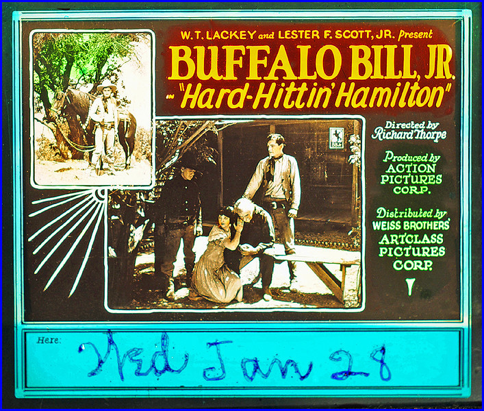 """Hard Hittin' Hamilton (1924) <br /> <br /> Synopsis: """"Bill Hamilton is on his way to inspect the Lazy-B ranch, which he has inherited, when he collides with the Lazy-B foreman, Buck Wilson, and has a fight with him. Later, while working on Jim Downing's ranch, he foils Wilson's attempts to acquire Downing's mortgage and foreclose. Mary Downing helps by forcing a confession from the man who killed her father, thus clearing Bill of murder charges. Bill protects Mary from Buck just before a rescue party arrives."""" - <a href=""""http://www.tcm.com/tcmdb/title.jsp?stid=495462"""">http://www.tcm.com/tcmdb/title.jsp?stid=495462</a>"""