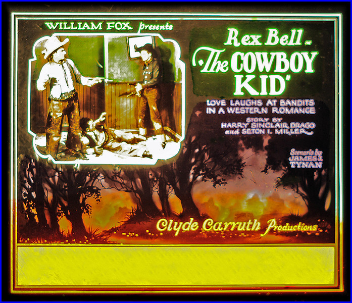"""The Cowboy Kid (1928)<br /> <br /> Synopsis: """"... young cowboy becomes entangled in the affairs of a girl. The latter's father is the town banker and the victim of various bank robberies. The cowboy captures the thieves, saves the father from financial ruin and wins the girl."""" ( Motion Picture News Booking Guide, [14]:243--4, 1929.)"""" -  <a href=""""http://www.tcm.com/tcmdb/title.jsp?stid=495072"""">http://www.tcm.com/tcmdb/title.jsp?stid=495072</a>"""
