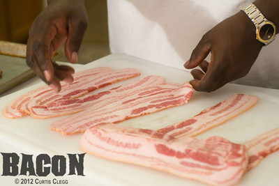 "Filming of ""Bacon"""