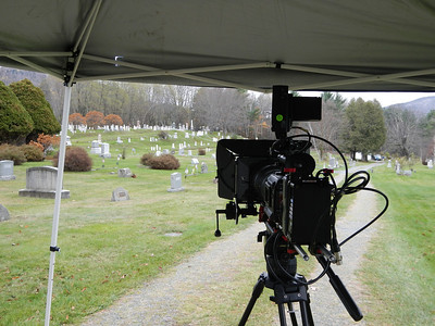 Camera set-up at Sunnyside Cemetery.