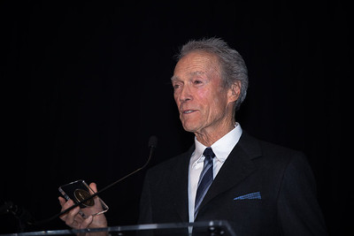 At a special ceremony marking the opening of the new Warner Bros. Theater at the National Museum of American History in Washington DC, the Smithsonian presented Clint Eastwood with the James Smithson Bicentennial Medal in honor of Eastwood's contribution to the American Experience through film. (Photo by Jeff Malet)