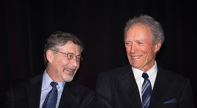 Barry Meyer, chairman and CEO of Warner Bros. nods to Clint Eastwood. At a special ceremony marking the opening of the new Warner Bros. Theater at the National Museum of American History in Washington DC, the Smithsonian presented Clint Eastwood with the James Smithson Bicentennial Medal in honor of Eastwood's contribution to the American Experience through film. (Photo by Jeff Malet)