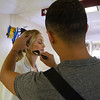 """Production crews from Los Angeles were at Heywood Hospital in Gardner on Thursday afternoon to film an independent television pilot. The show, named """"Deaths Door"""" is based on a book by Massachusetts doctor Sebastian Sepulveda,  a primary care/nephrologist from Chelmsford. Actress Ellen Hollman, as Dr. Claire Morgan, gets her makeup touched up by Rene Maquilleur between scenes. SENTINEL & ENTERPRISE / Ashley Green"""