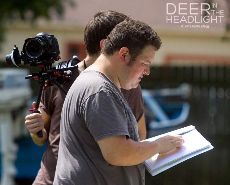 "Filming of ""Deer in the Headlight"""