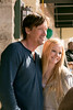 Actor Kevin Sorbo poses with Nichole Abbott of Aledo between takes.