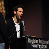 Actor James Franco was a special guest  and BIFF Vanguard Award winner at the Boulder International Film Festival (BIFF) on Saturday night at the Boulder Theater.<br /> Cliff Grassmick/ February 19, 2011