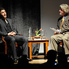 Actor James Franco in being interviewed by Ron Bostwick of BIFF.<br /> Actor James Franco was a special guest  and BIFF Vanguard Award winner at the Boulder International Film Festival (BIFF) on Saturday night at the Boulder Theater.<br /> Cliff Grassmick/ February 19, 2011
