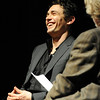 James Franco, left, is  being interviewed by Ron Bostwick of BIFF.<br /> Actor James Franco was a special guest  and BIFF Vanguard Award winner at the Boulder International Film Festival (BIFF) on Saturday night at the Boulder Theater.<br /> Cliff Grassmick/ February 19, 2011