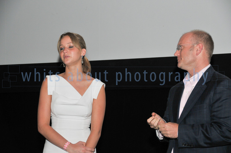 Jennifer Lawrence of Winter's Bone talking after a private viewing of her movie.