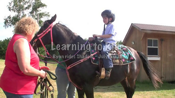 Ryan learning to ride horse at 6 years old.
