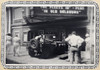 Army Jeep is driven into the Linwood Theatre during WWII for a promotion.