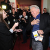 "Martin Sheen jokes with  television reporter, Kaiti Williamson, while entering the Boulder Theater on Saturday.<br /> Distinguished actor, Martin Sheen, was the 2012  Boulder International Film Festival winner of the Master of Cinema Award.<br /> For a video and photos of Sheen, go to  <a href=""http://www.dailycamera.com"">http://www.dailycamera.com</a>.<br /> Cliff Grassmick / February 18, 2012"