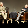 """Martin Sheen, right, is interviewed by Ron Bostwick.<br /> Distinguished actor, Martin Sheen, was the 2012  Boulder International Film Festival winner of the Master of Cinema Award.<br /> For a video and photos of Sheen, go to  <a href=""""http://www.dailycamera.com"""">http://www.dailycamera.com</a>.<br /> Cliff Grassmick / February 18, 2012"""