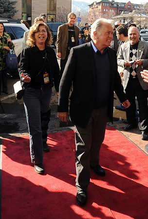 "Martin Sheen arrives on the red carpet with Kathy Beeck, Executive Director of BIFF.<br /> Distinguished actor, Martin Sheen, was the 2012  Boulder International Film Festival winner of the Master of Cinema Award.<br /> For a video and photos of Sheen, go to  <a href=""http://www.dailycamera.com"">http://www.dailycamera.com</a>.<br /> Cliff Grassmick / February 18, 2012"