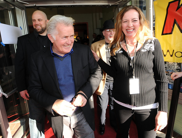 "Martin Sheen greets the media and guests with Robin Beeck, Festival Director of BIFF.<br /> Distinguished actor, Martin Sheen, was the 2012  Boulder International Film Festival winner of the Master of Cinema Award.<br /> For a video and photos of Sheen, go to  <a href=""http://www.dailycamera.com"">http://www.dailycamera.com</a>.<br /> Cliff Grassmick / February 18, 2012"
