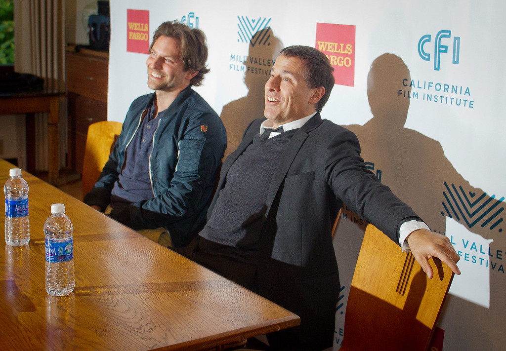 Bradley Cooper and director David O. Russell at a press conference before the opening of the Mill Valley Film Festival in Mill Valley, Calif., is seen on Thursday, Oct. 4th, 2012.