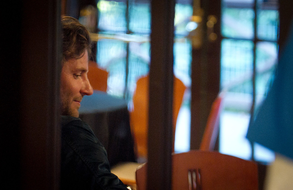 A quiet moment for actor Bradley Cooper at the opening of the Mill Valley Film Festival in Mill Valley, Calif., is seen on Thursday, Oct. 4th, 2012.
