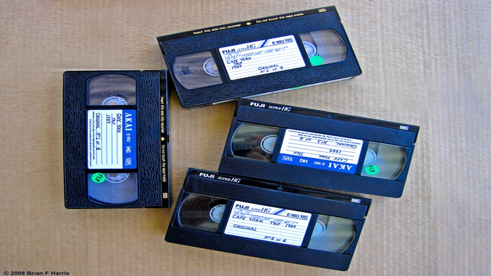 My VHS (S-VHS not avail then) video tapes our 4x4 Guides to Adventure Cape York trip. Total 12 hrs