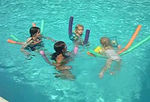 """""""Aunt Jenny and the girls and the floaties""""  Super short movie, hanging out in the pool."""