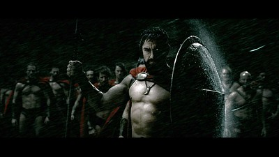"""GERARD BUTLER stars as King Leonidas in Warner Bros. Pictures', Legendary Pictures' and Virtual Studios' action drama """"300,"""" distributed by Warner Bros. Pictures. PHOTOGRAPHS TO BE USED SOLELY FOR ADVERTISING, PROMOTION, PUBLICITY OR REVIEWS OF THIS SPECIFIC MOTION PICTURE AND TO REMAIN THE PROPERTY OF THE STUDIO. NOT FOR SALE OR REDISTRIBUTION"""