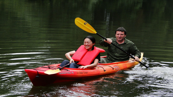 Kayaking on the Tualatin River.