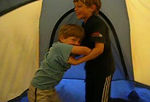 """""""It's Fun to Hang out in the Tent!""""  One of the most fun parts of camping was just hanging out in the tent, wrestling."""