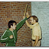 """Rick Rostonski attacks Harold Brown in a scene from """"Payment In Blood""""."""