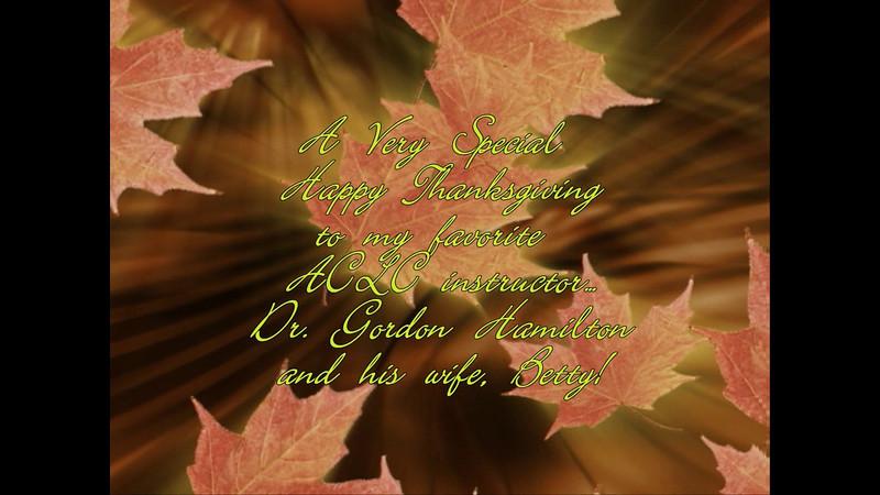 Jim Duda's Homework for November - a Thanksgiving card for Instructor Gordon