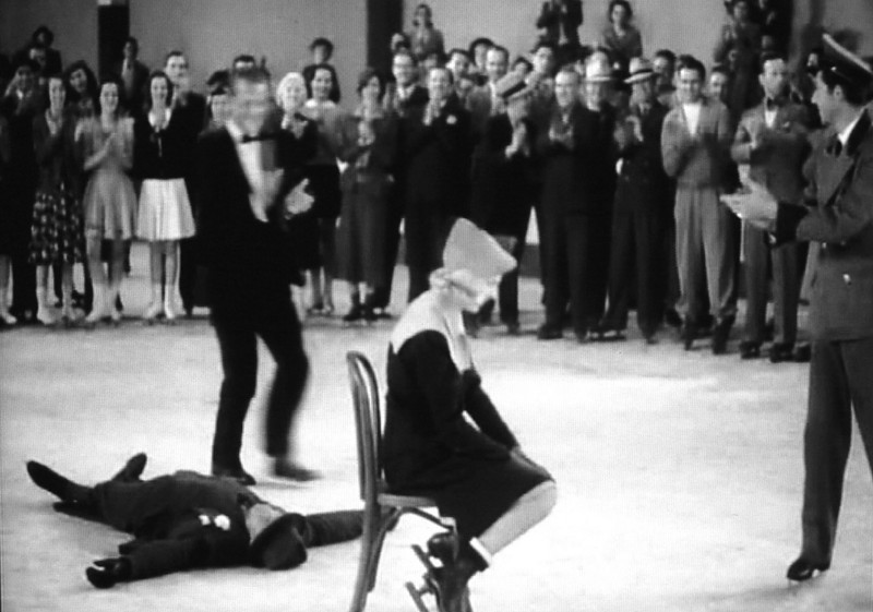 In There Goes My Heart (1938) the heiress wins a contest at a skating rink.