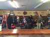 A film crew sets up a scene inside Nelson's Ice Cream in Royersford. (Photo by Amanda Nelson)