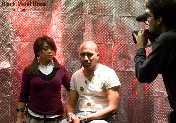 """Filming of """"Black Metal Rose"""" for the movie """"Smashed"""""""