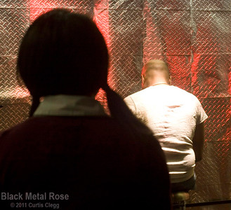 "Filming of ""Black Metal Rose"" for the movie ""Smashed"""