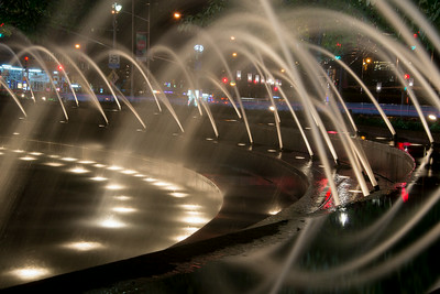 TIME LAPSE NIGHT PHOTOGRAPHY AT LINCOLN CENTER & COLUMBUS CIRCLE - 08 AUD 2014
