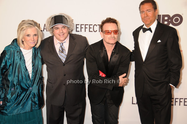 Shelia Nevins,l Lance Bangs, Bono, Richard Plepler<br /> by Rob Rich © 2010 robwayne1@aol.com 516-676-3939