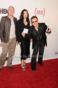 Adam Clayton, Alison Hewson, Bono by Rob Rich © 2010 robwayne1@aol.com 516-676-3939