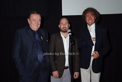 Sirio Maccione, Andrew Rossi, Marco Maccione photo by Rob Rich © 2007 robwayne1@aol.com 516-676-3939