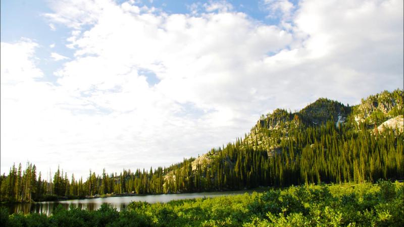 Blue Lake in Valley County Idaho--Sunrise