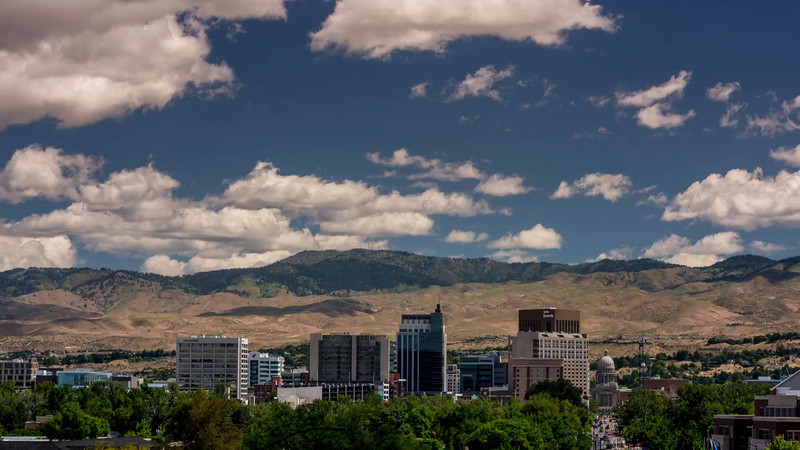 Boise City Time Lapse of clouds moving and shadows