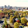 Aerial view of the city of Boise Idaho in the fall