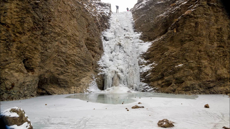 Jump Creek Falls Ice Climber