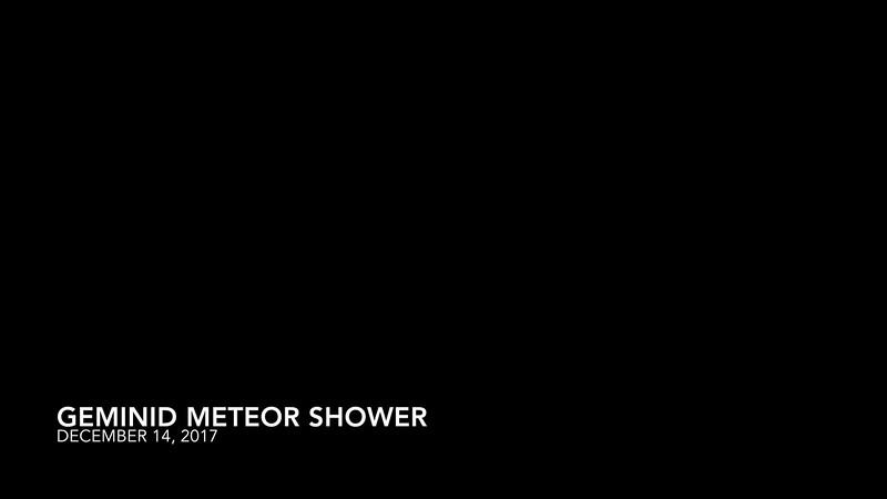 Geminid Meteor Shower (Chasing Orion)