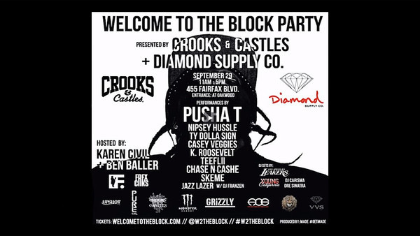 Welcome to the Block Party Crooks & Castles x Diamond Supply