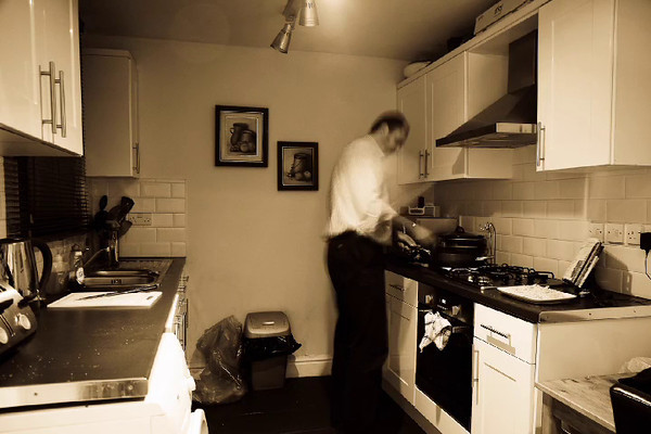Cooking Dinner.<br /> <br /> I wanted to test out the new Magic Lantern intervalometer.