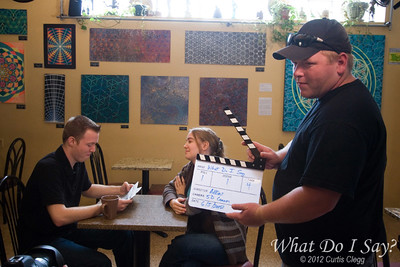 "Filming of ""What Do I Say?"