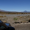 A view of Mount Ngauruhoe and Mount Ruapehu, seen from the Desert Road.